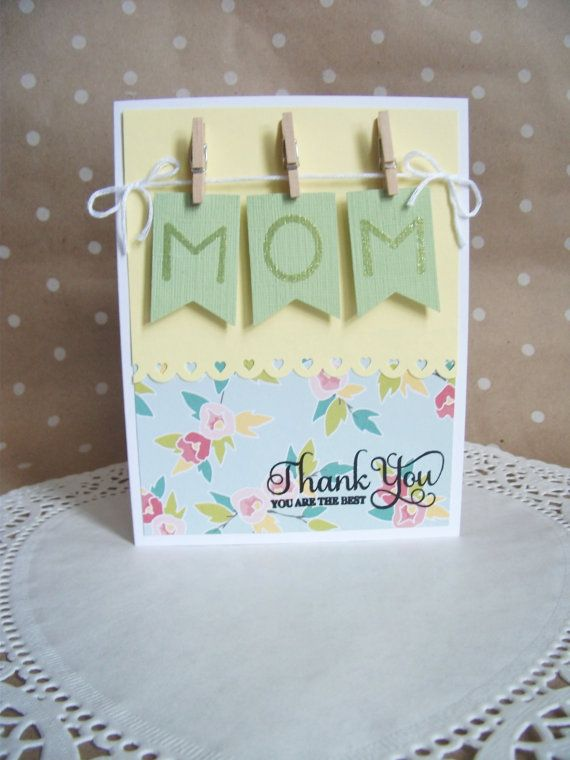 Mother's Day Card Mothers Day Card Thank You by ShirleyDeeDesigns, $3.75