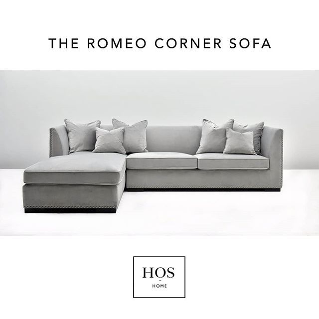 The Romeo Sofa In Light Greyshop Our Luxury Sofas Online Now Hoshomes Interior Design Homedetails Homeinspo Homedecor Chill With Images Luxury Sofa Sofa Corner Sofa