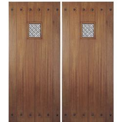 Shop for MAI Doors HTC800-2 craftsman style door. Mahogany Square Top Panel Style Exterior Double Door With A Fixed Speakeasy. Unique exterior square top double door with a fixed speakeasy and plank design Door is crafted from hand-selected Mahogany of the highest quality to ensure optimal performance and unmatched beauty This design is desired