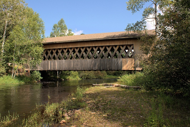 Covered Bridge over South Fork of the Flambeau River at Smith Rapids near Park Falls, WI.  Photo by RTC1, via Flickr