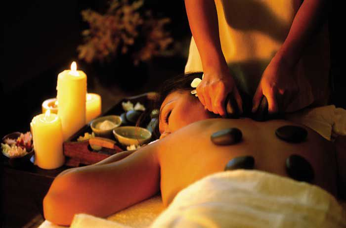 Hot stone massage!