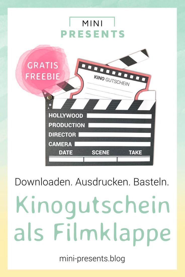 Kinogutschein Als Filmklappe Basteln Crafts Invitations Gifts