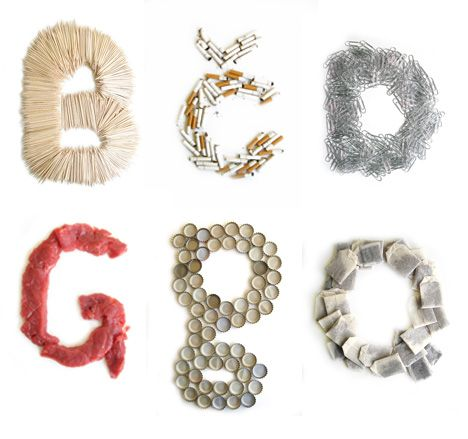 Letter Made Out Of Objects.Letters Made Out Of Objects