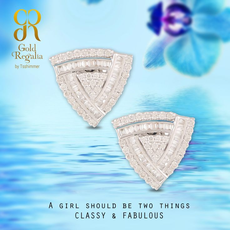 A girl should be two things 'Classy' and 'Fabulous' - #GoldRegalia : http://goo.gl/TEmLWA  #GirlsJewelry #BirthdayGirl #ClassyJewelry #Earrings #OnlineJewelry