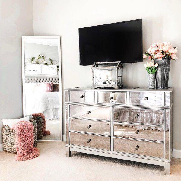 Hayworth Mirrored Silver Chest Dresser Bedroom Set Pier 1 Mirrored Bedroom Furniture Silver Bedroom Bedroom Set Designs
