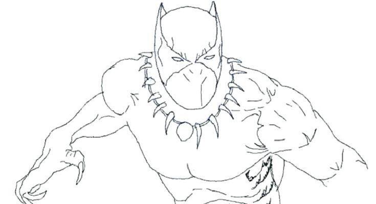 Black Panther Superhero Coloring