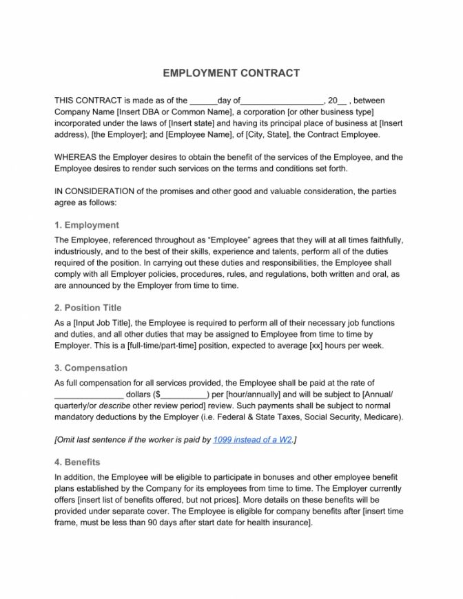 Explore Our Sample Of Non Profit Employment Agreement Template For Free Contract Template Employment Business Template
