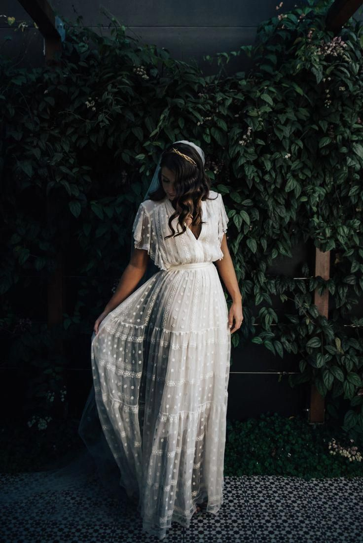 Boho wedding dress vintageweddings vintage weddings in