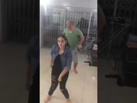 This Girl Doesnt Realize Her Dad Is Dancing Behind Her