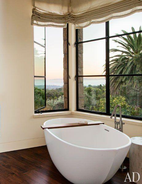 Aquabrass X Round Tub filler, Featured in @ArchitecturalDigest #aquabrass #XRound #InstaH20 #ArchitecturalDigest