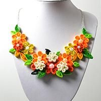 This is a detailed tutorial on making a beaded flower statement necklace with ribbon strand. You will learn beading skill after finish this DIY project.