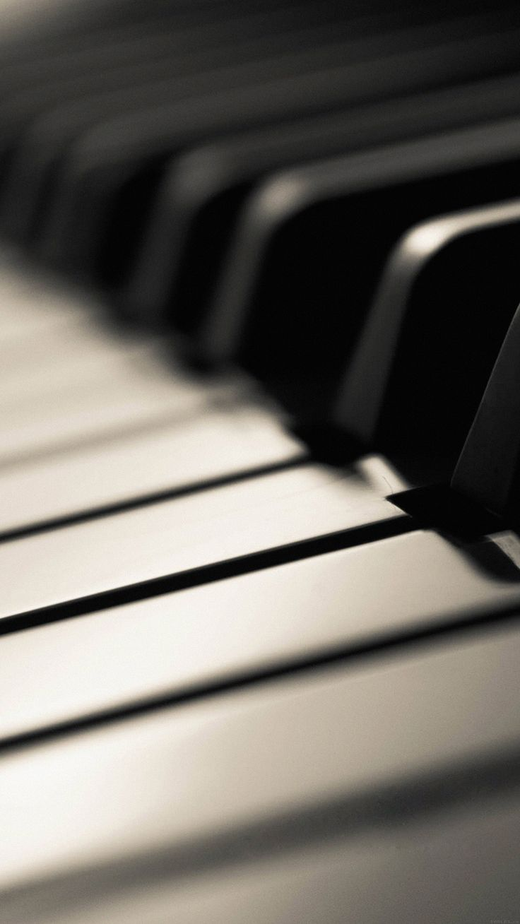 ↑↑TAP AND GET THE FREE APP! Music Piano Keys Black and White Stylish Blurred Classic HD iPhone 6 plus Wallpaper