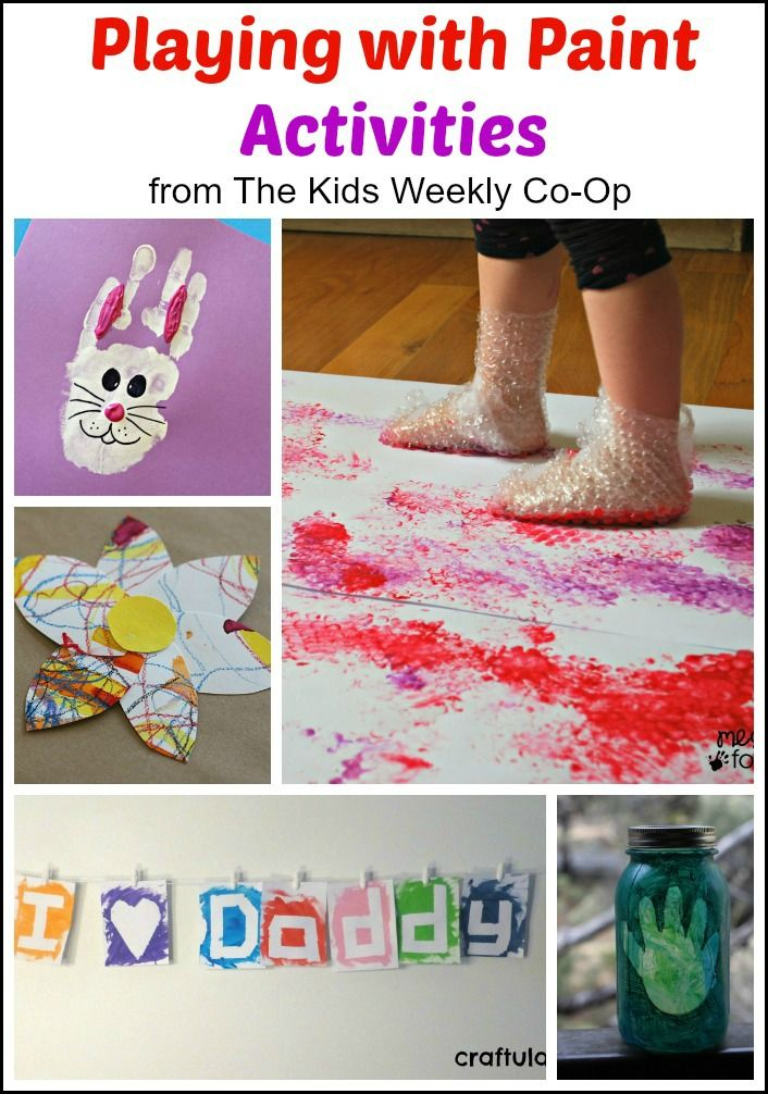 Playing with Paint Activities from The Kids Weekly Co-Op - Lots of fun ideas for using paint and creating art with kids.