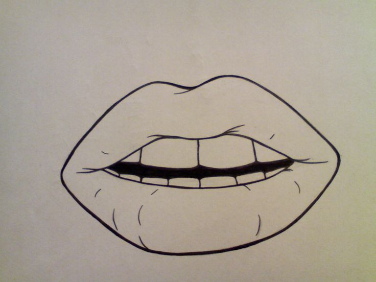 Simple Lips Drawing Simple Mouth Drawing Best Photos Of