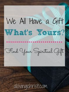 As each has received a gift, use it to serve one another, as good stewards of God's varied grace: (1 Peter 4:10) A spiritual gift assessment to find your spiritual gifts!