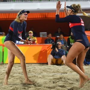 There's a DJ, samba music, tons of energy and, of course, volleyball.