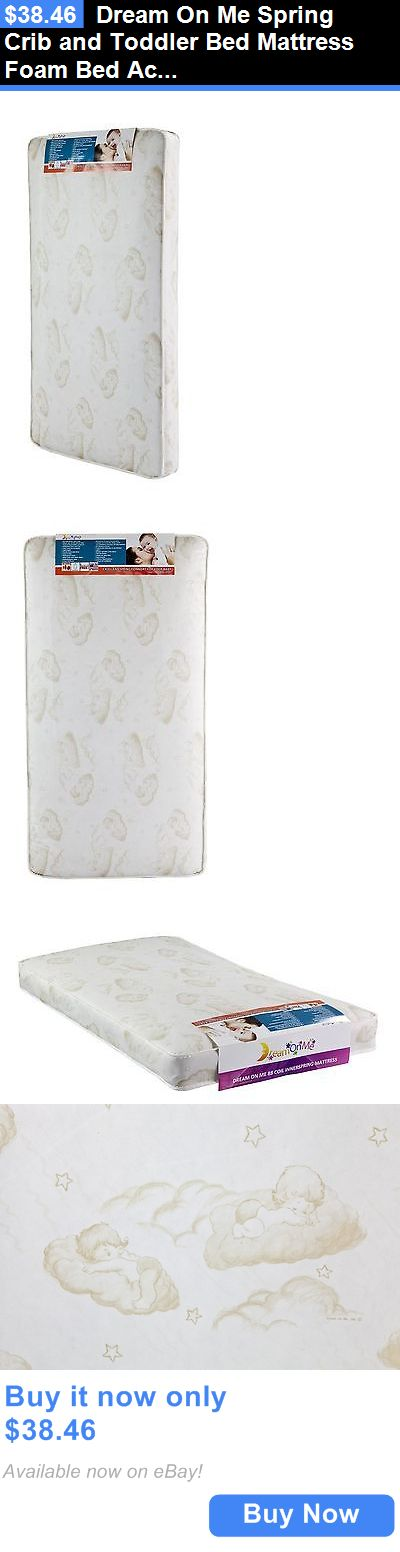 Baby Nursery: Dream On Me Spring Crib And Toddler Bed Mattress Foam Bed Accessories Bedding BUY IT NOW ONLY: $38.46