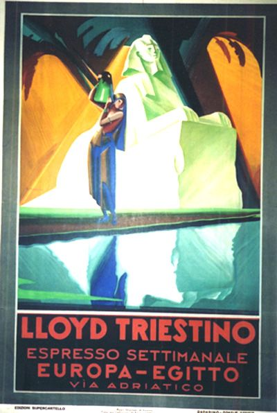 Lloyd Triestino-Egypt 1930  Giuseppe Riccobaldi