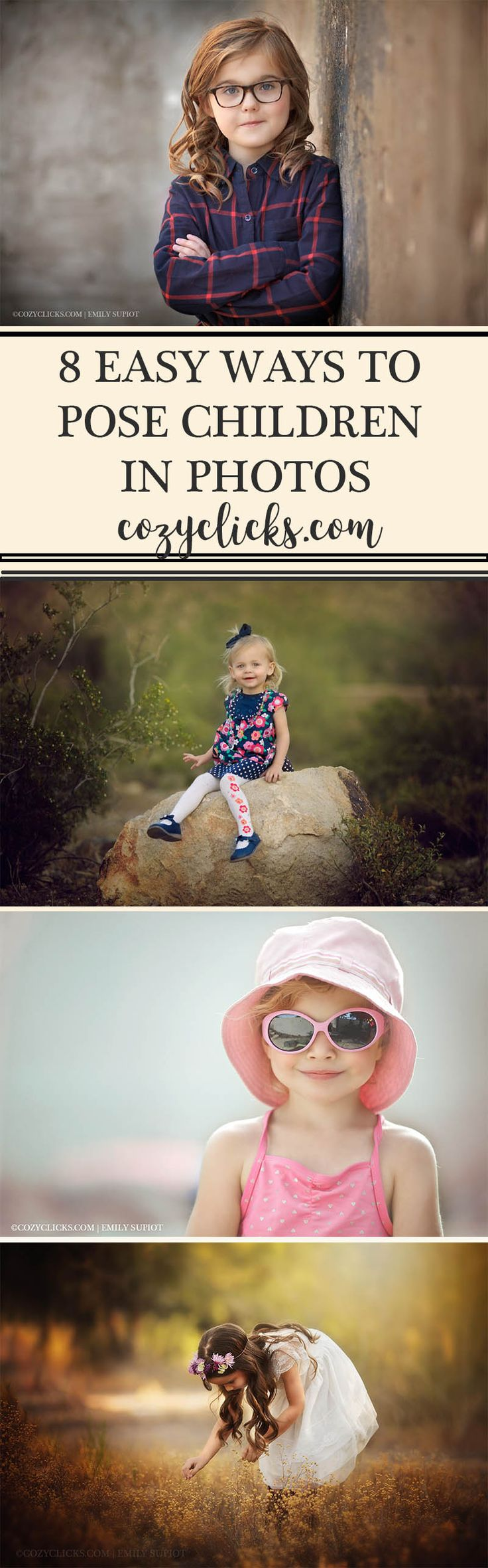 Easy poses for children in photos. Read here to see posing tips for working with kids.