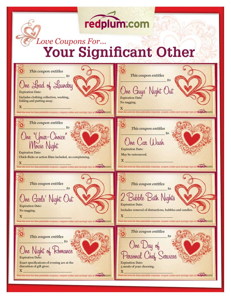 Romantic love coupon template printable love coupons for for Sex coupon template