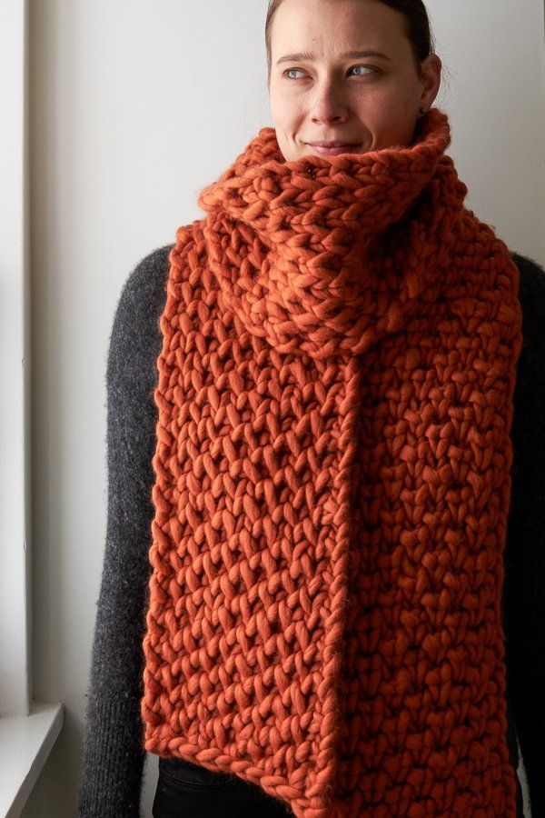 Lattice Brioche Scarf | Purl Soho. Knitting pattern available for free