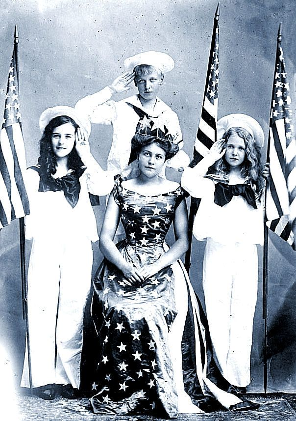 Patriotic costumes, early 20th C.