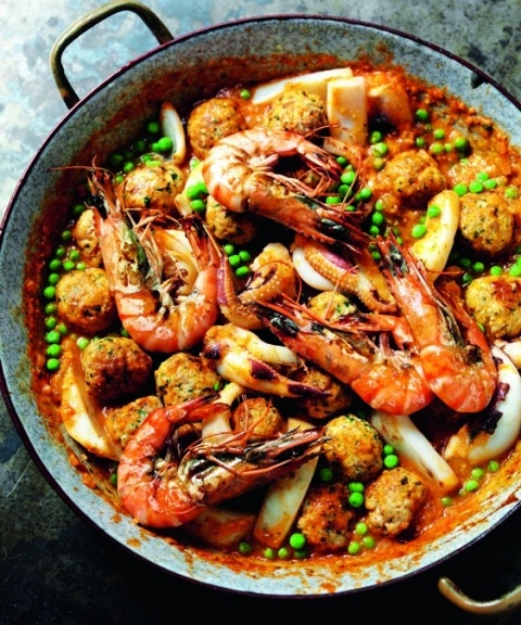 Rick Stein's cuttlefish with meatballs and peas | Recipe | Sicily and ...