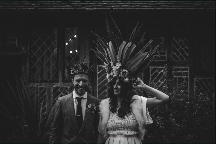 A beautiful bohemian bride wearing our gorgeous Apollonia faux fur jacket by Blanche in the Brambles; Featured on The Mews Bridal Blog. Visit our website to order: http://www.blancheinthebrambles.co.uk/index.php/bridal/apolloniaivory.html