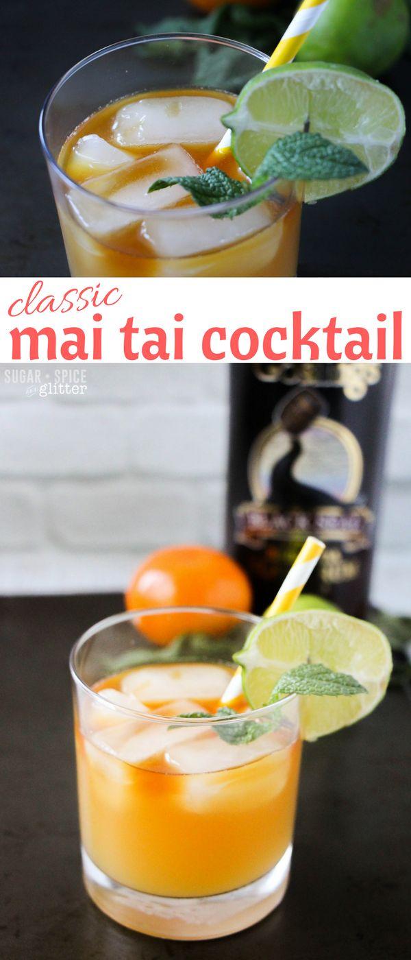 A classic mai tai cocktail recipe, including an easy recipe for homemade orgeat…