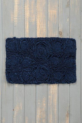 Bed Of Roses Bath Mat from Urban Outfitters. This is really pretty!