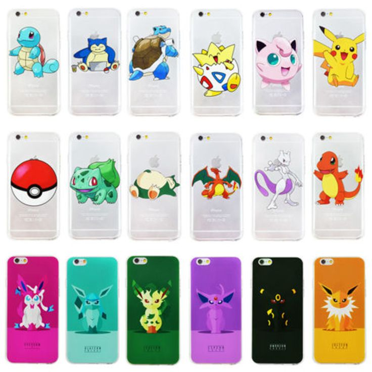 Ownest leuke pokemons pikachus case voor transparante silicone soft tpu cover print telefoon case voor iphone 7 7 plus 5 5 s 6 6 s plus