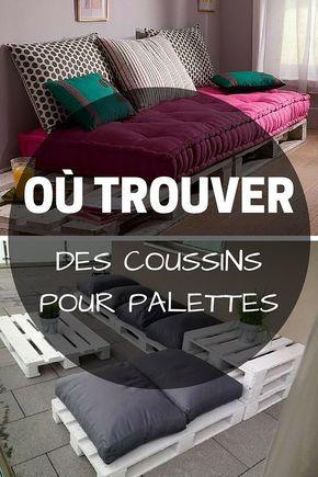 coussin pour palette o trouver des coussins pour meubles en palette palette pinterest. Black Bedroom Furniture Sets. Home Design Ideas