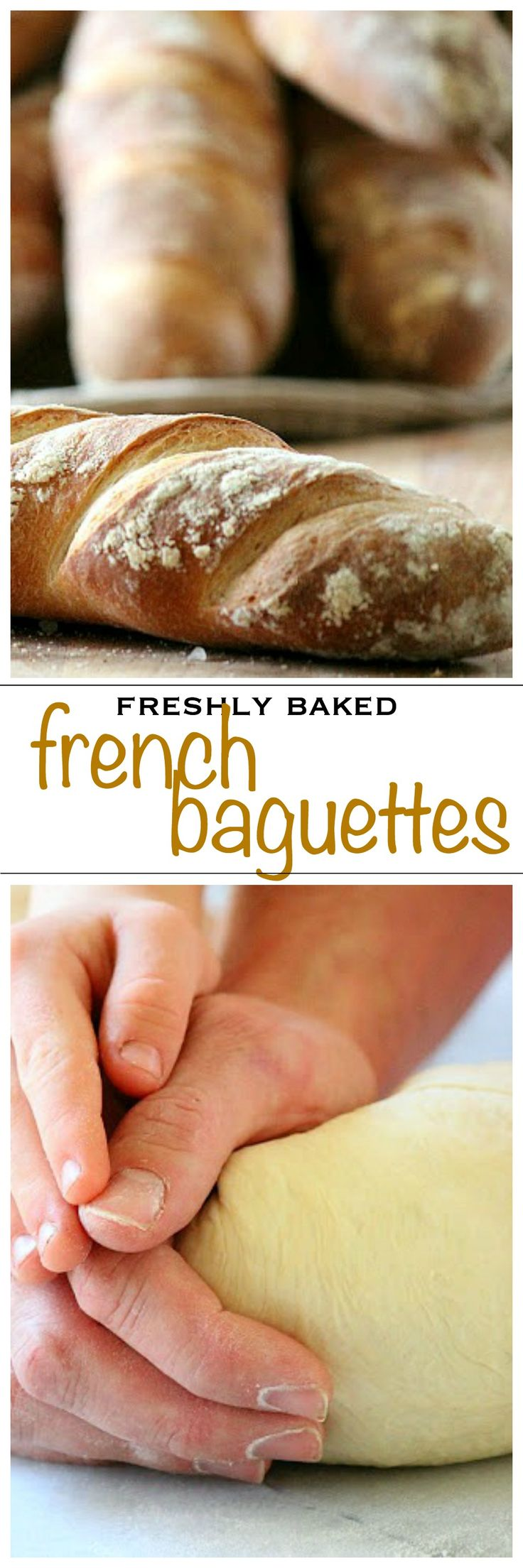 Homemade french baguettes, chewy and crusty just like a real bakery | Foodness Gracious