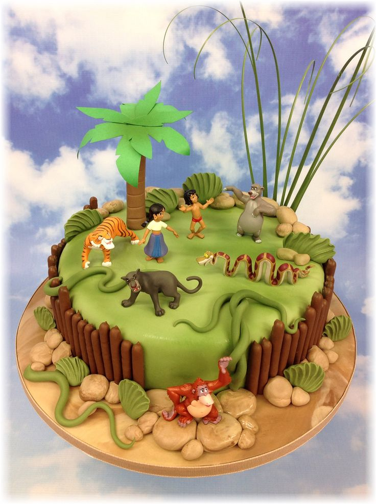 46 Best Disney S Jungle Book Cakes Images On Pinterest