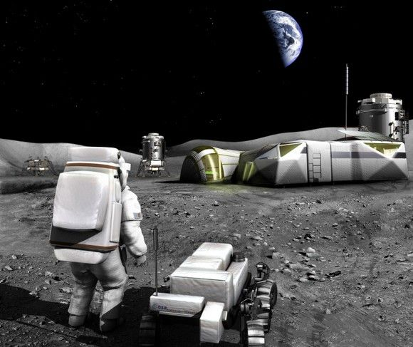 Artist's concept for a Lunar base. Credit: NASA