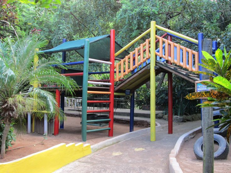 Our colourful playground is always a hit with the kids