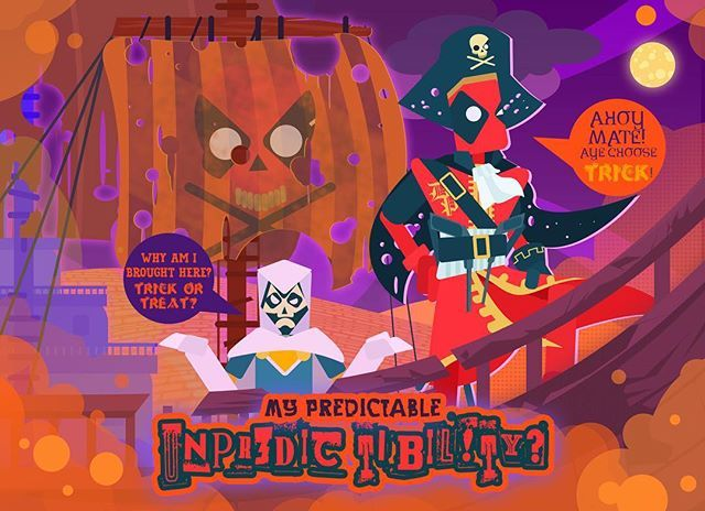 Is it because... Of his predictable unpredictability?  #deadpool #marvel #photoshop #art #story  #graphic #infographic #vector #stylized #taskmaster #character #Halloween #ship #ahoy #predictableunpredictability #pirate #piratepool #trickortreat #unpredictable  All these Halloween hype...
