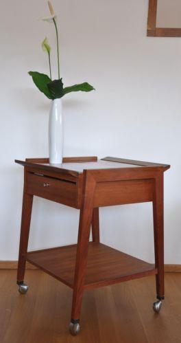 servierwagen beistelltisch warmhalteplatte teak danish. Black Bedroom Furniture Sets. Home Design Ideas