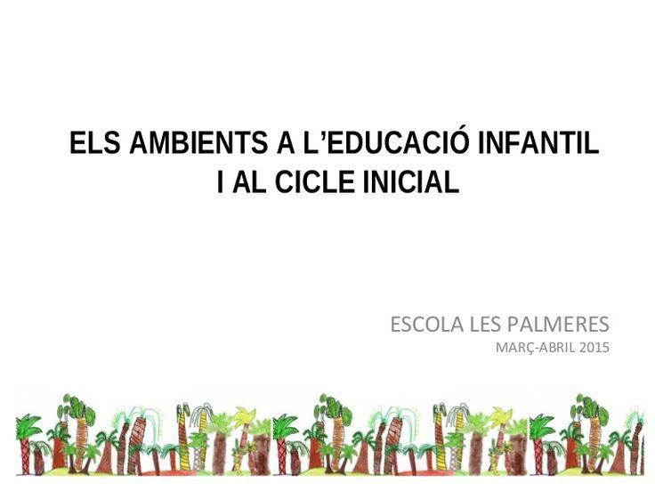ELS AMBIENTS A L'EDUCACIÓ INFANTIL I AL CICLE INICIAL ESCOLA LES PALMERES…