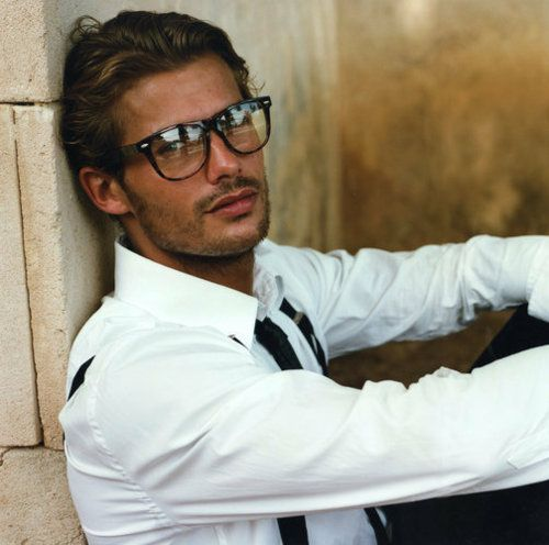 Boys with glasses. With stubble.: Eye Candy, Glasses, White Shirts, Jacey Elthalion, Boys, Eyec Was, Men Fashion, Hot Guys, Geek Chic