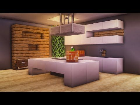 Minecraft: How to Build a Modern Working Kitchen - YouTube ...