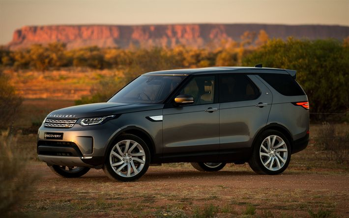 Download wallpapers Land Rover Discovery, 4k, SUVs, 2018 cars, offroad, new Discovery, Land Rover