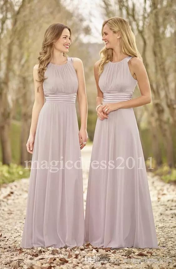 2017 Modest Lavender Bridesmaid Dresses Floor Length A-Line Jewel Ruffled Long Chiffon Boho Country Wedding Party Maid of Honor Gowns Forma Cheap Chiffon Bridesmaid Dress Sage Boho Bridesmaid Dress Maid of Honor Gowns Online with $86.0/Piece on Magicdress2011's Store | DHgate.com