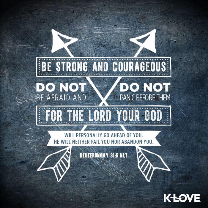 Deuteronomy 31:6                                                                                                                                                                                 More