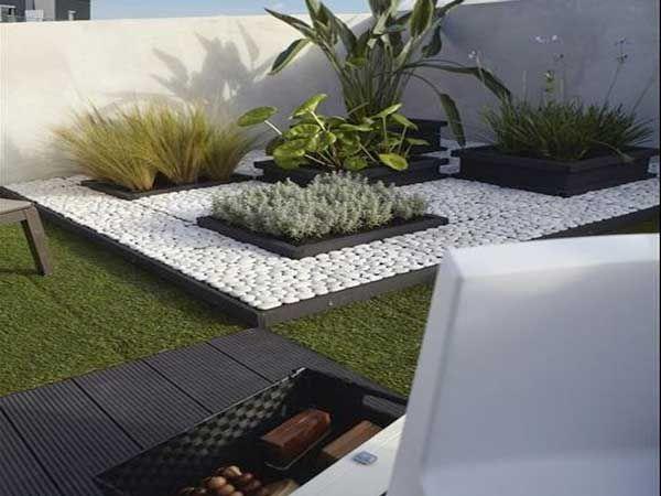 De 20 bedste id er inden for carr de jardin p pinterest - Terrasse galets blancs ...