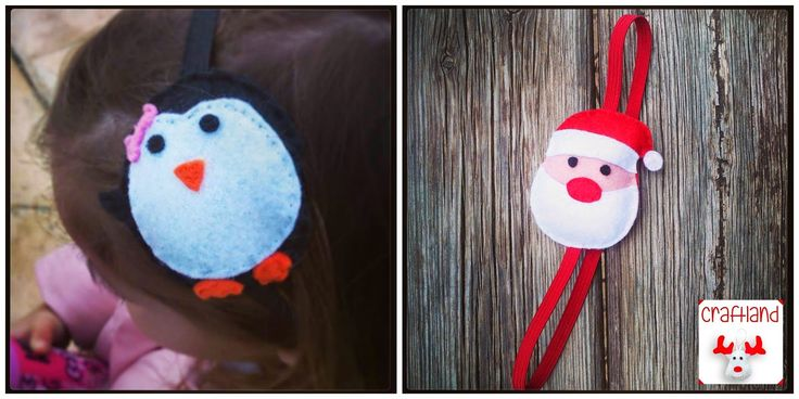 Christmas hairbands penguin ,santa
