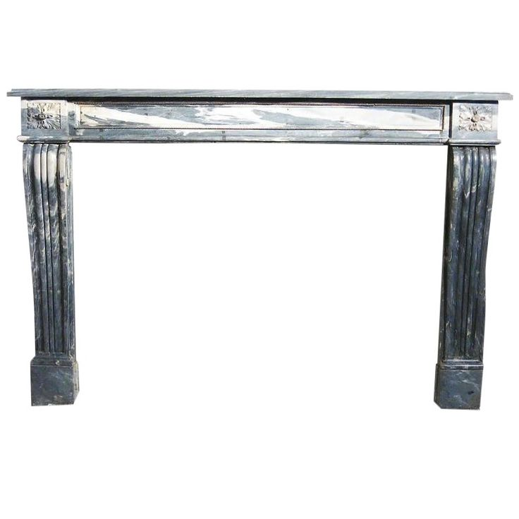 19th Century Italian Carrara Marble Fireplace Mantle