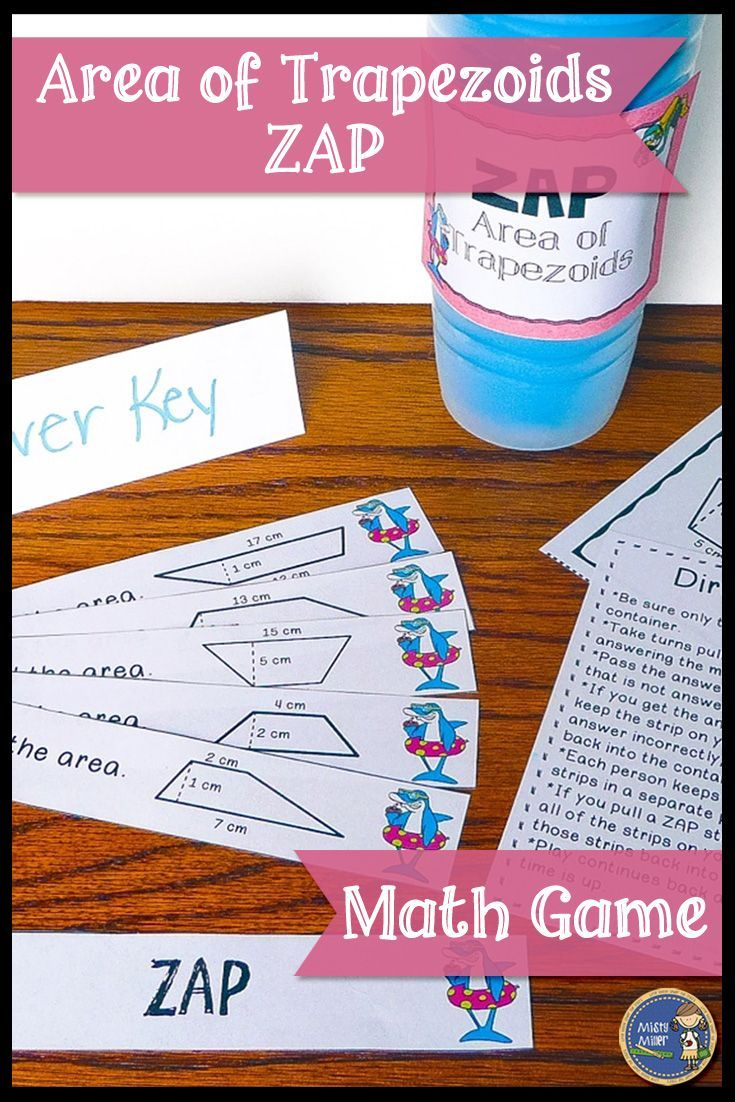 Area Of Trapezoids  Engaging Math Game For Your Students Great For Math  Stations Or