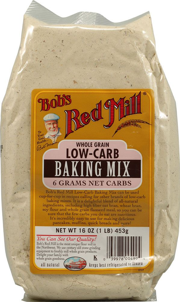 Saving to remember for later for the Carbless Boyfriend.    Bob's Red Mill Low-Carb Baking Mix