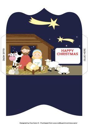 Nativity Scene Money Wallet Happy Christmas on Craftsuprint - Add To Basket!